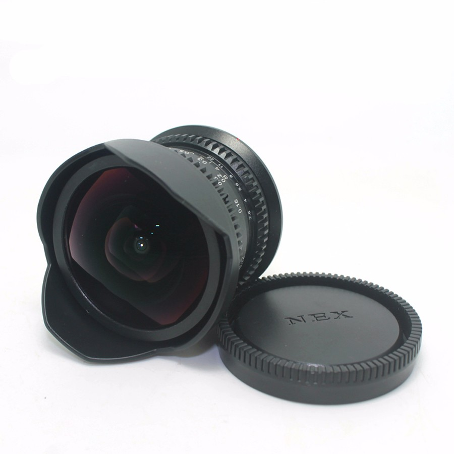 8mm F2.8 Ultra Wide Angle Fisheye Lens for Sony NEX E-mount A7 A6300 A6000 /Macro 4/3 M4/3 GH4 BMPCC /Fuji FX DSLR Camera 2