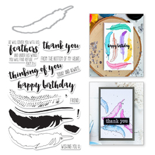 Naifumodo Feather Clear Stamps and Metal Cutting Dies Scrapbooking 2019 New Making Cards Craft Dies Set Embossing Decor Stencils naifumodo feather clear stamps and metal cutting dies scrapbooking 2019 new making cards craft dies set embossing decor stencils