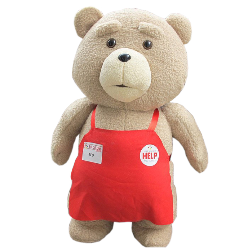 Big Size 46 cm Original Teddy Bear Stuffed Plush Animals Ted 2 Soft Doll Baby Birthday Gift Kids Toys - Happy Toy Market store