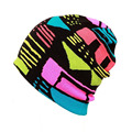 New Graffiti Winter Outdoor Sport single board skating and skiing knitted Beanies For Men Women Warm Caps Hats
