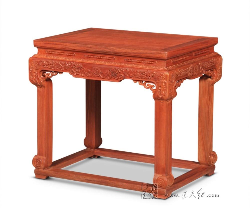 Падук Малый Чай Таблица Офис Гостиная кофе стол палисандр консольный стол с Bat узор Redwood мебель из цельного дерева