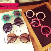 Fashion Round Cute Brand Designer Child Sunglasses Anti-uv Baby Vintage Glasses Girl Cool Eyewear Boys Kids Oculos