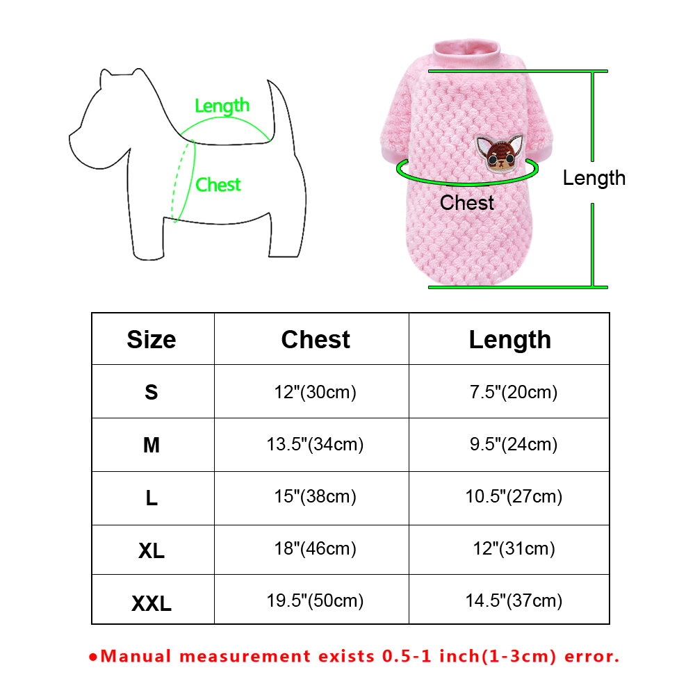 Warm Dog Jacket Made with Soft Fleece Material for Small and Medium Dogs 5