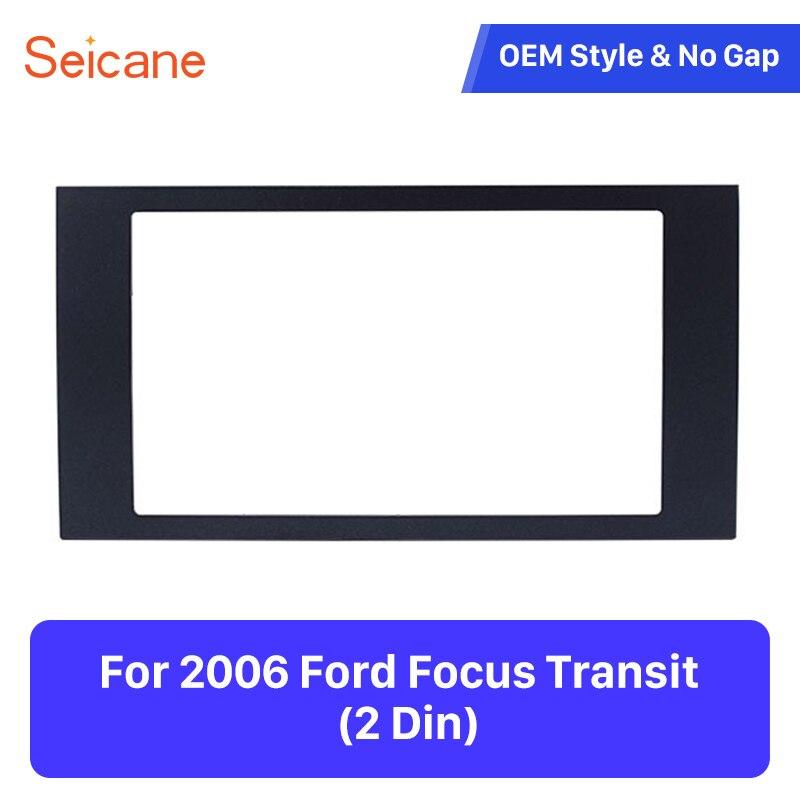 Ford Fusion 2005-2007 Car Stereo Double Din Fascia Facia Panel Black DFP-07-09