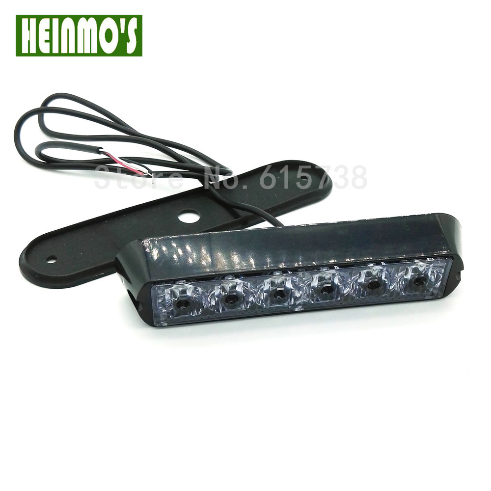 12V Car Front Grille LED Strobe Flash Warning Light Auto Police LED Bar Emergency Light Truck Caution Flashing Lamp