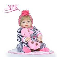 cdc2cd65971d3 NPK 23   Lifelike Bonecas Reborn Bebês cabelo loiro Corpo Tão  Verdadeiramente Menina Boneca Modelo