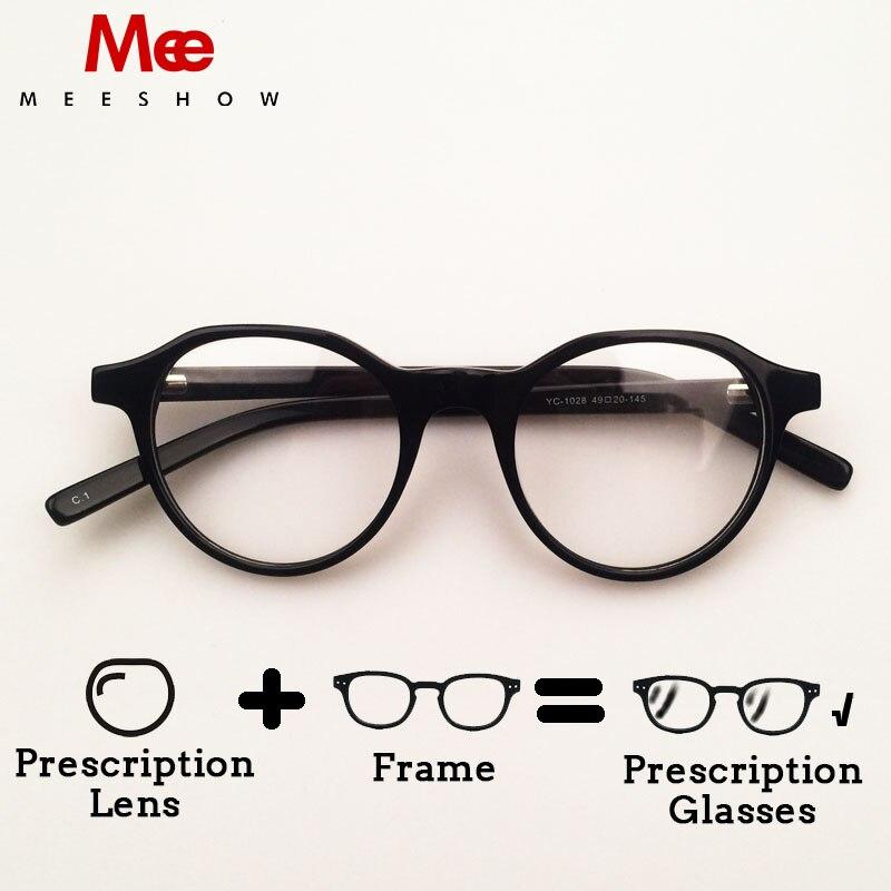 5b0ec8bb4de 2019 Meeshow Acetate Eyeglasses Myopia Optical Frame Men women retro glasses  prescription glasses customized Lens 1028-in Prescription Glasses from  Apparel ...