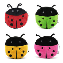 цена на 4 Colors new Ladybug Coin purse , Children Girl's Plush Coin Purse Pouch pendant small Coin Bag Mini Wallet Pouch bag For G
