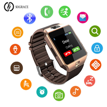 Купить с кэшбэком DZ09 Children Smart Watch With Passometer Camera SIM Card Call Smartwatch For Xiaomi Huawei HTC Android Phone Better Than Y1 A1
