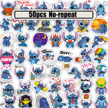 50pcs Stitch cartoon anime fans funny decals scrapbooking diy stickers decoration phone laptop waterproof accessories