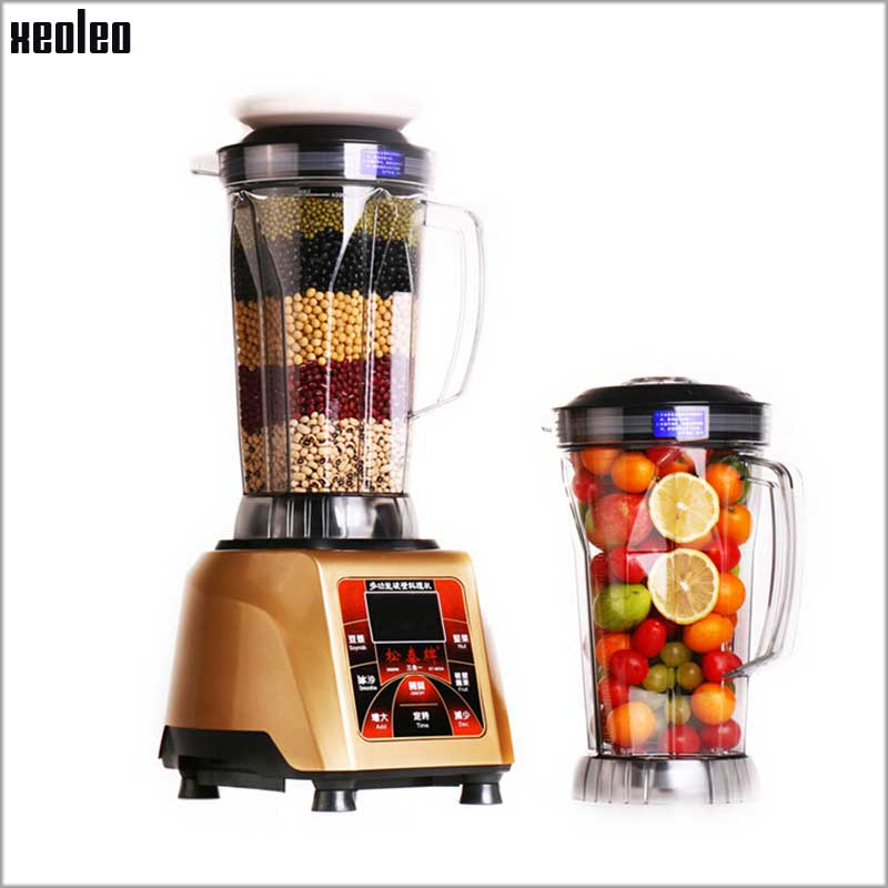 Xeoleo Commercial Blender 4L Heavy Duty Blender Mixer 3000W Soybean Milk Machine Ice Blender Make Nut/Smoothie/Fruit/Soybean 1hp 1500w heavy duty commercial blender mixer juicer high power food processor ice smoothie bar fruit electric blende