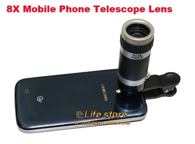 8x zoom optische zoom handy teleskop objektiv clip universal für