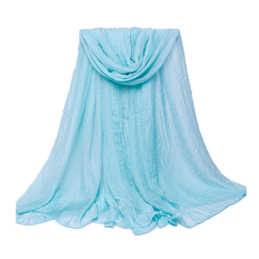 Spring and Autumn Women's Chiffon Scarfs Solid Color   Scarves     Wraps