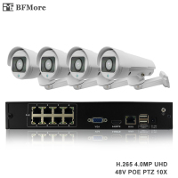 BFMore H 265 PTZ 5 0MP POE 4CH NVR Kit CCTV System IP Camera 5 50mm