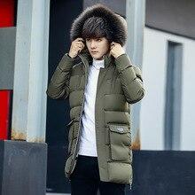 2017 new fashion Winter men Jacket Warm Male hooded Coats long Thick casual Men Parkas Men plus size M-4XL slim outwear Clothing