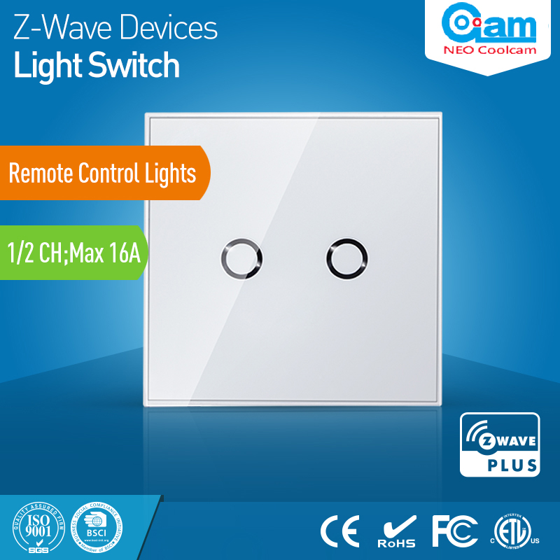 Z wave Sensor Smart Home EU Wall Light Switch 2CH Gang Touch Sensitive Compatible with Z-wave 300 500 Series Home Automation smart home z wave wireless switch module two relays