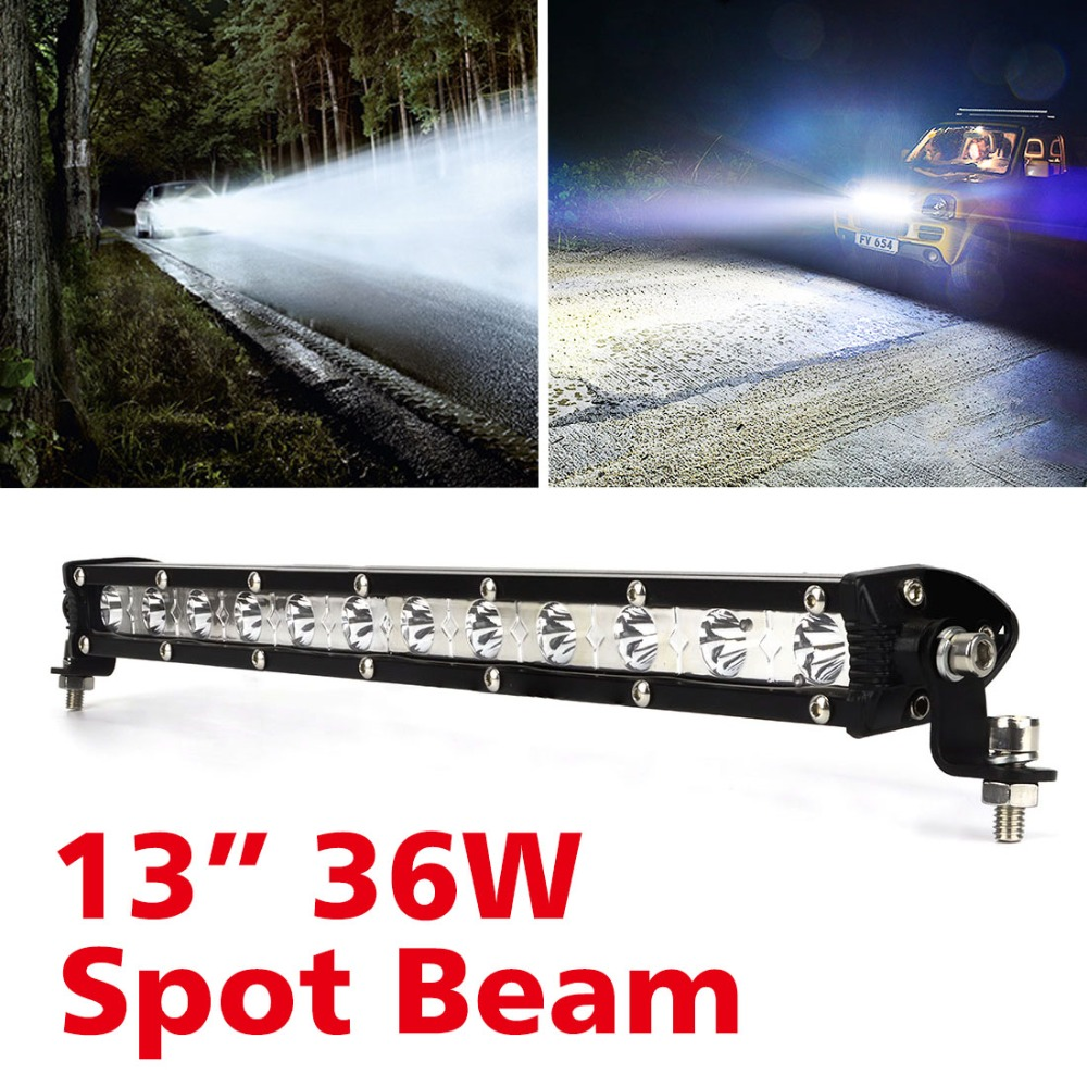 Safego 13inch 36W LED Light Bar Offroad Driving Vehicle Truck 4x4 4WD ATV SUV 12V 24V Car Headlight Work Light Spot/Flood Beam 52inch 300w led light bar for off road indicators work driving car truck 4x4 suv atv fog spot flood beam 12v 24v led headlight