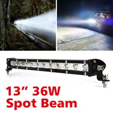 13 inch 36W C R E LED Spot/Flood Beam Bar IP67 For Driving Vehicle Offroad Truck 4x4 4WD ATV SUV Styling 12V 24V Car Headlight