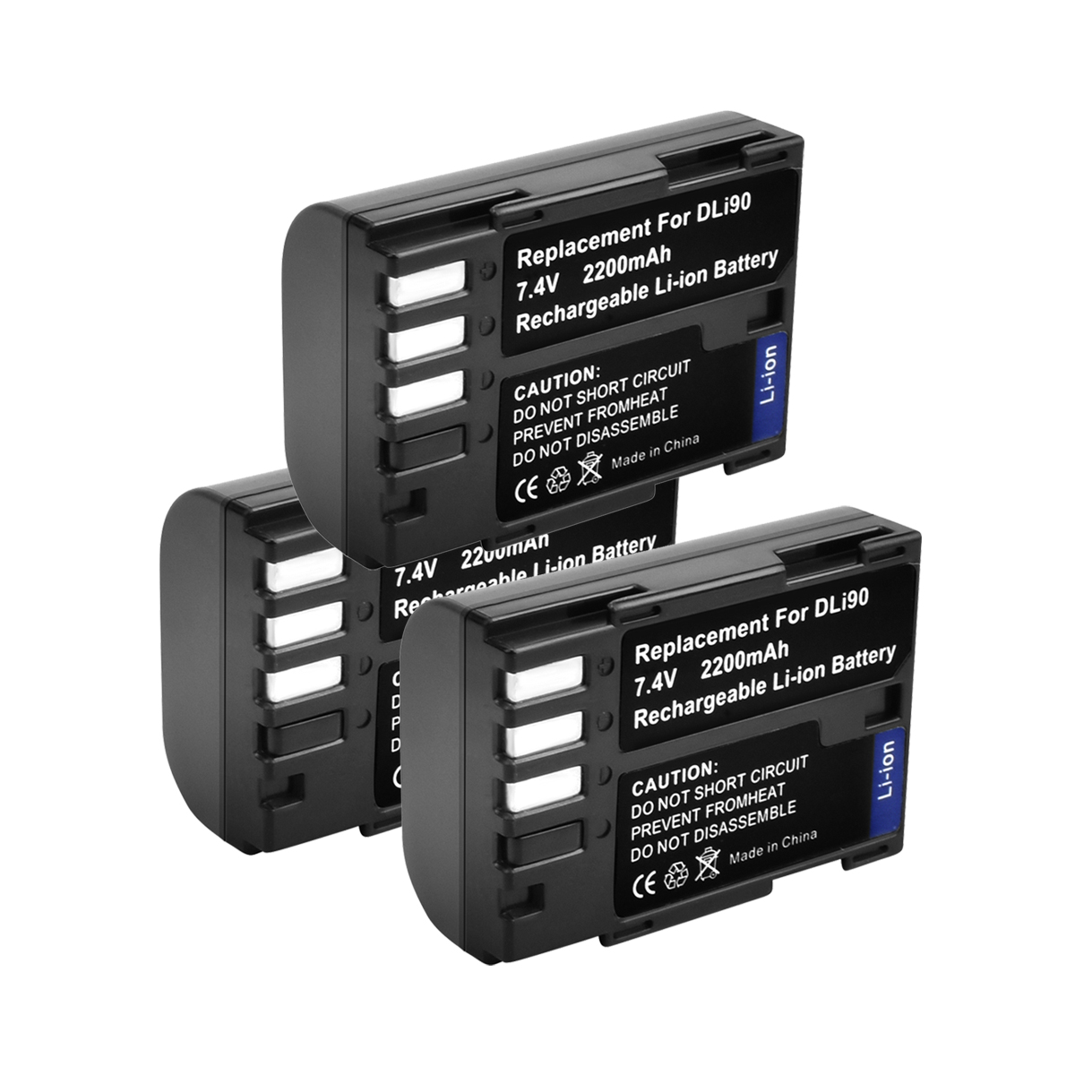 3pcs 7.4V 2200mAh akku D-LI90 DLI90 D LI90 Digital Camera Battery For PENTAX K-7 K-7D K-5 K-5 II 645D K01 K-3 K-3 II 645Z L new 2 step vertical power shutter battery handle grip for pentax k 7 k7 k 5 k5 slr camera as d bg4 dbg4 1 x d li90 car charger