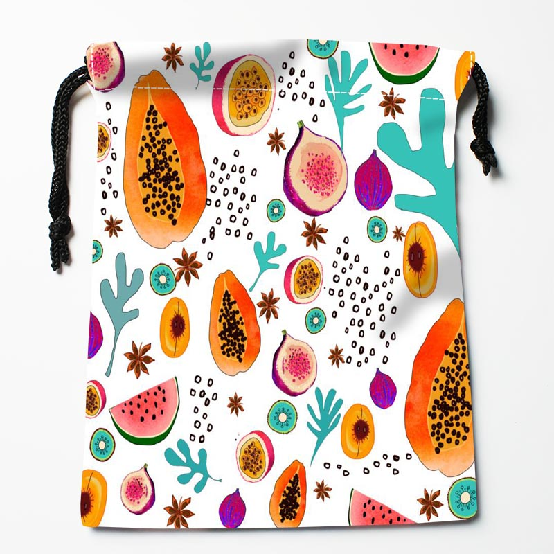 Custom Fruit Pattern Bags Custom Printed Gift Bags More Size 27x35cm Compression Type Bags