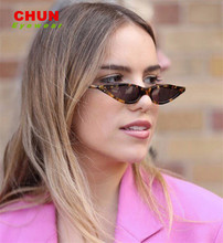 ФОТО chun small sunglasses women triangle cat eye vintage black leopard red stylish cat eye sun glasses female 2018 uv400 brand k6