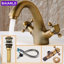 Cold and hot water tap hole bathroom counter basin faucet Basin