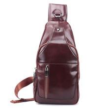 цены Men Chest Bag Genuine Leather Men's Chest Bag Business For Men Travel Messenger Casual Sling Shoulder Bag Cow Leather Chest Bag