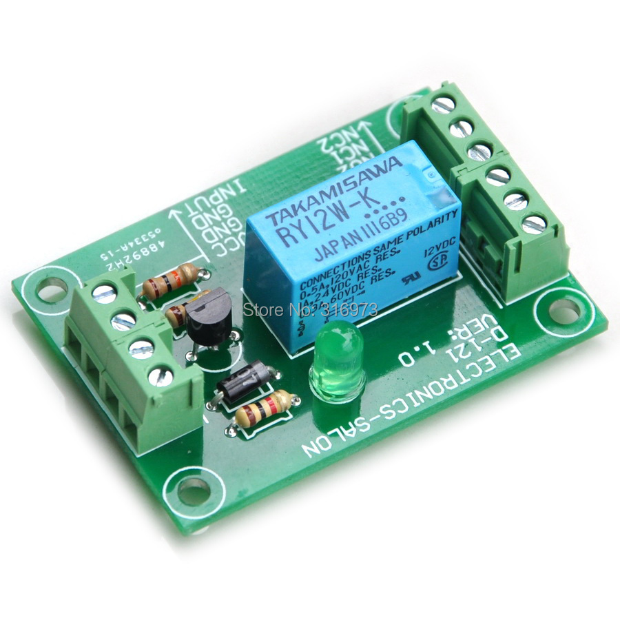 DPDT Signal Relay Module, 12Vdc, RY12W-K Relay. Has Assembled.