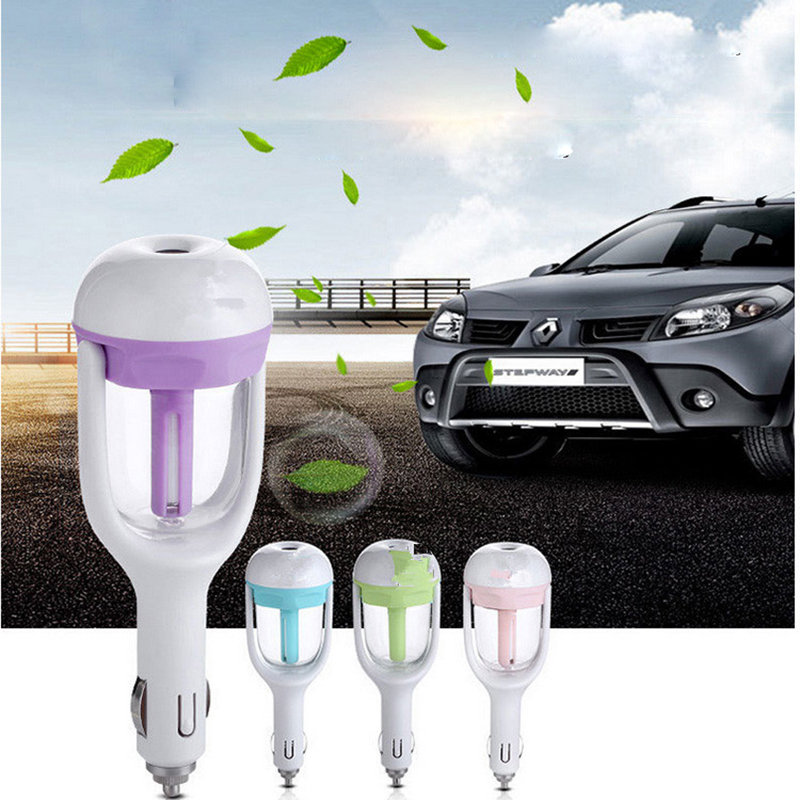 цена на Car oil diffuser Aromatherapy air freshener Mist Maker Fogger Car Humidifier Air Purifier Aroma Diffuser Essential