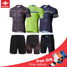 Santic Cycling Set Men Summer Road Bike MTB Short Sleeve Bicycle Clothing Breathable Cycling Jersey Maillot Ciclismo Sportwear