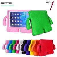 SZEGYCHX Silicone Épaisse Mousse Antichoc Souple Stand Tablet Cas Pour iPad Air 1 A1474 A1475 A1476 Cas 3D Mignon de Bande Dessinée Enfants couverture