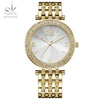 SK Women Watches Luxury Brand Fashion Quartz Ladies Stainless Steel Bracelet Watch Gold Clock Montre Femme