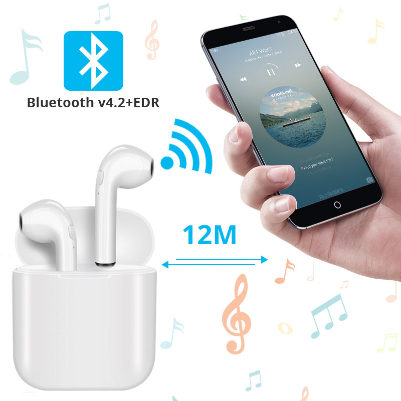 i9 TWS HiFi Stereo Bluetooth Earphone Sport Sweatproof Wireless Headphones  Headsets Earbuds for Xiaomi for iPhone x xr Huawei