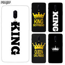 King Queen Luxury Soft TPU Silicone Phone Back Case For OnePlus 5 5T 6T 6 Frosted Fundas Printed Cover