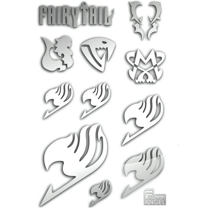 11pcs set Fairy Tail Anime Sticker 3D Metal DIY Stickers Phone Laptop Stickers Metal Cartoon Stickers Kids Toy Gift in Stickers from Toys Hobbies
