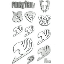 Fairy Tail DIY Phone Laptop Stickers Metal Calcomanías Pegatinas 3D Anime Pegatinas Niños Juguete