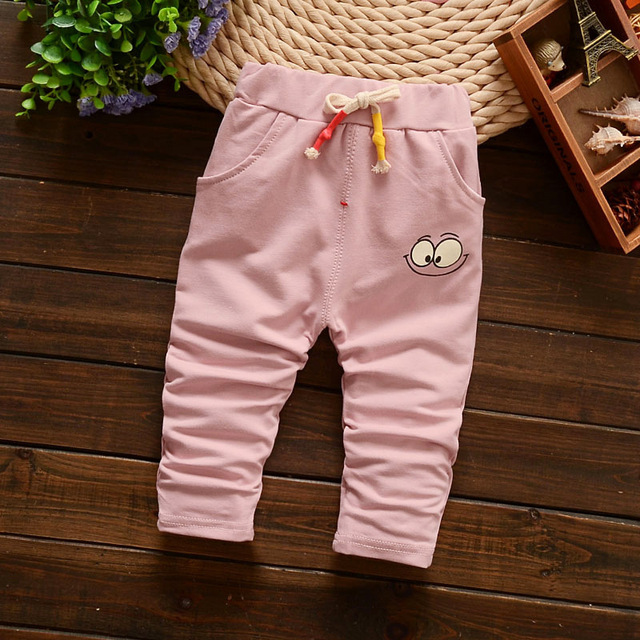 2016 New Spring autumn Cartoon baby pants  3 color baby boy/girl pants