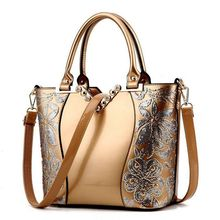 2018 Luxury Sequin Embroidery Women Bag Patent Leather Handbag Diamond Shoulder Messenger Bags Famous Brand Designer LL242