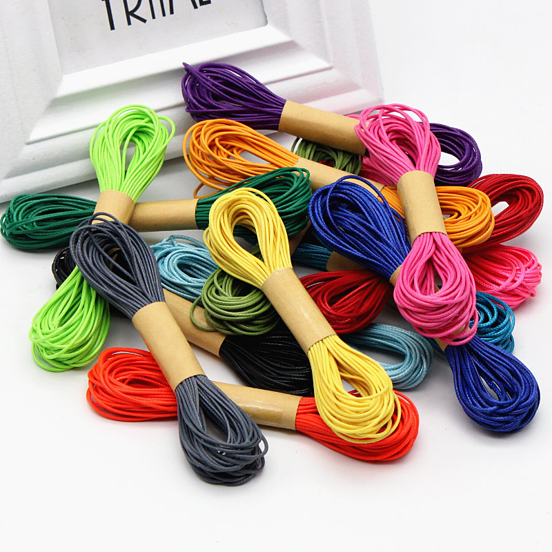 1mm 10 meters / roll Rope Satin Rattail Polyester Cords Wax rope Cord Chinese Knot DIY Package Bracelet Jewelry Findings