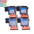 4x cabeças de impressão para hp designjet 11 70 100 110 500 800 500 PS C4810A C4811A C4812A cabeça de Impressão Remodelado Preto Ciano Magenta Amarelo