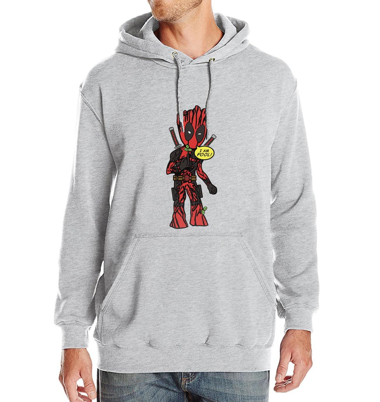 Sweatshirt For Men 2018 New Autumn Winter Hoody Print DEADPOOL Funny I'M GROOT Cartoon Hoodie Superhero Harajuku Men's Hoodies