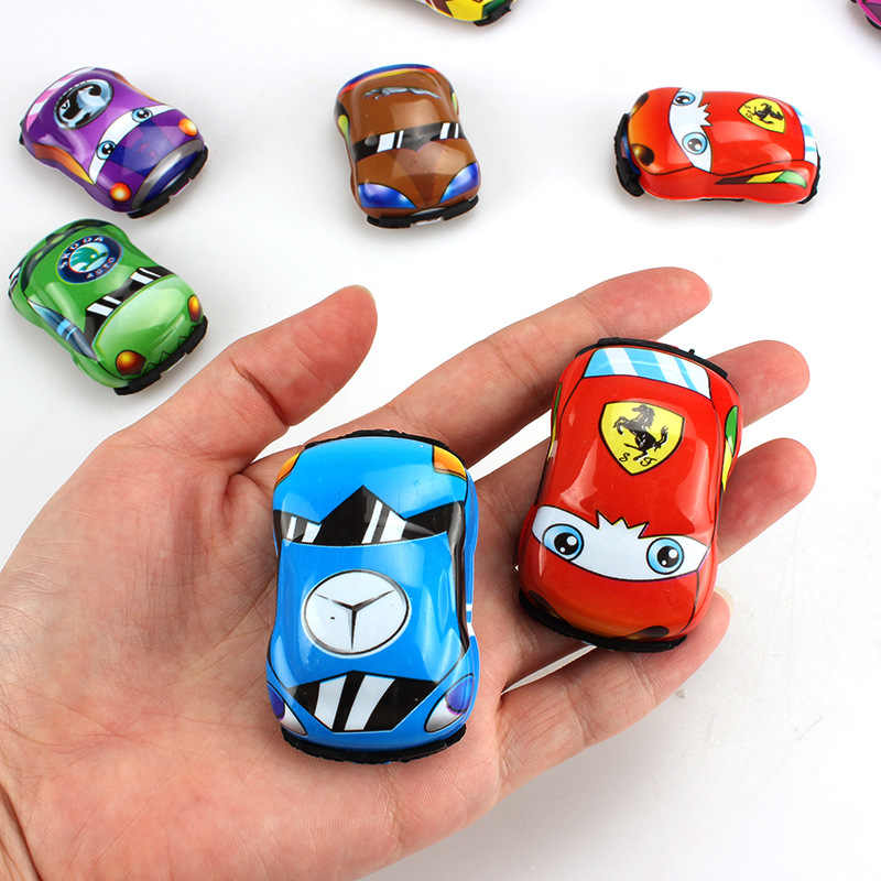 1PC Yellow Plastic Transparent Car Toy Pull Back Small Engineering Car Model Kid Toys Gift Random Color Diecasts Toy Vehicles