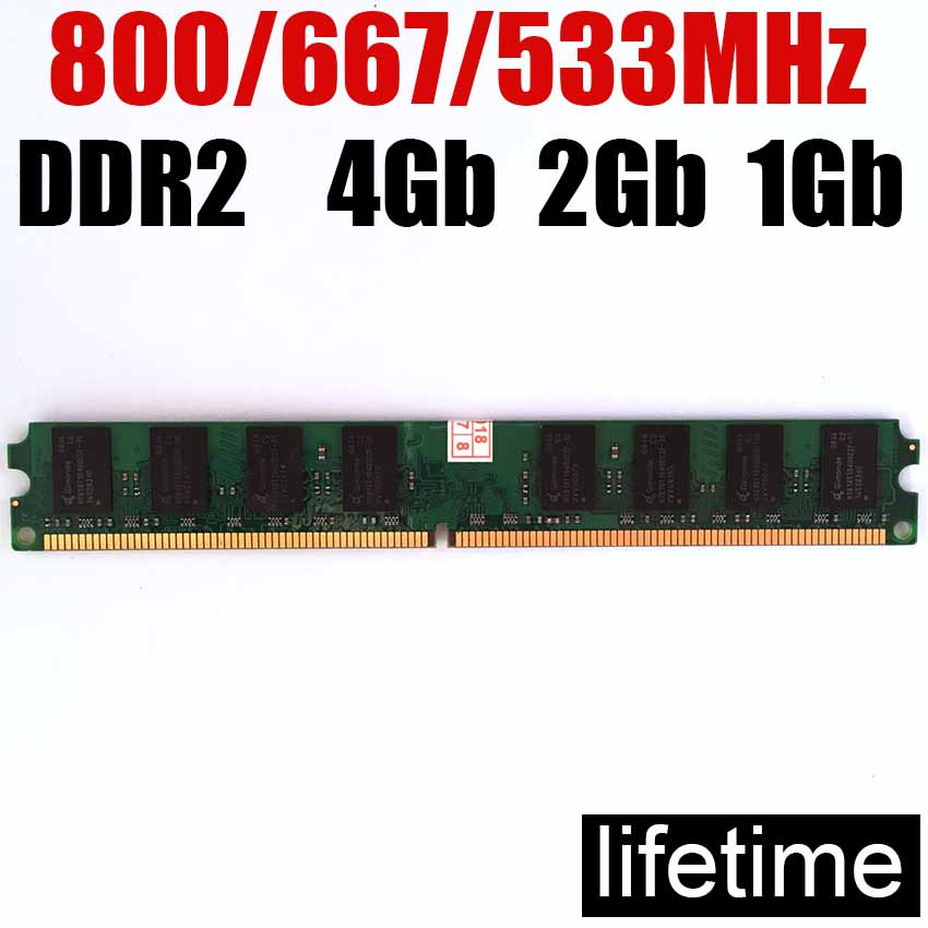 ddr2 4Gb RAM-minne 2Gb ddr2 För Intel - För AMD DDR2 800Mhz - 1Gb 2Gb 4Gb ddr 2 800 minne RAM -lifetime garanti-800Mhz