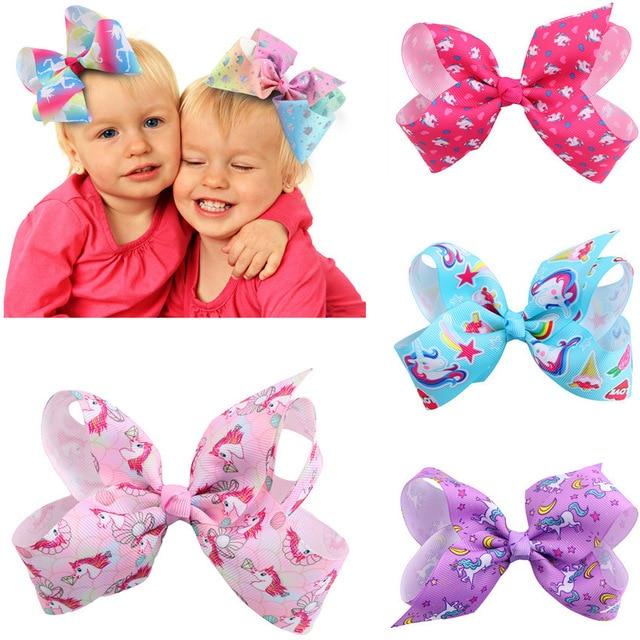 5X Bow Butterfly Hair Clips Girls Hair Grips Kids Hairpin Headwear Accessory IG