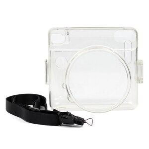 Image 3 - Besegad şeffaf plastik koruyucu kılıf kapak için ayarlanabilir omuz askısı ile Fujifilm Instax kare SQ6 SQ 6 kamera