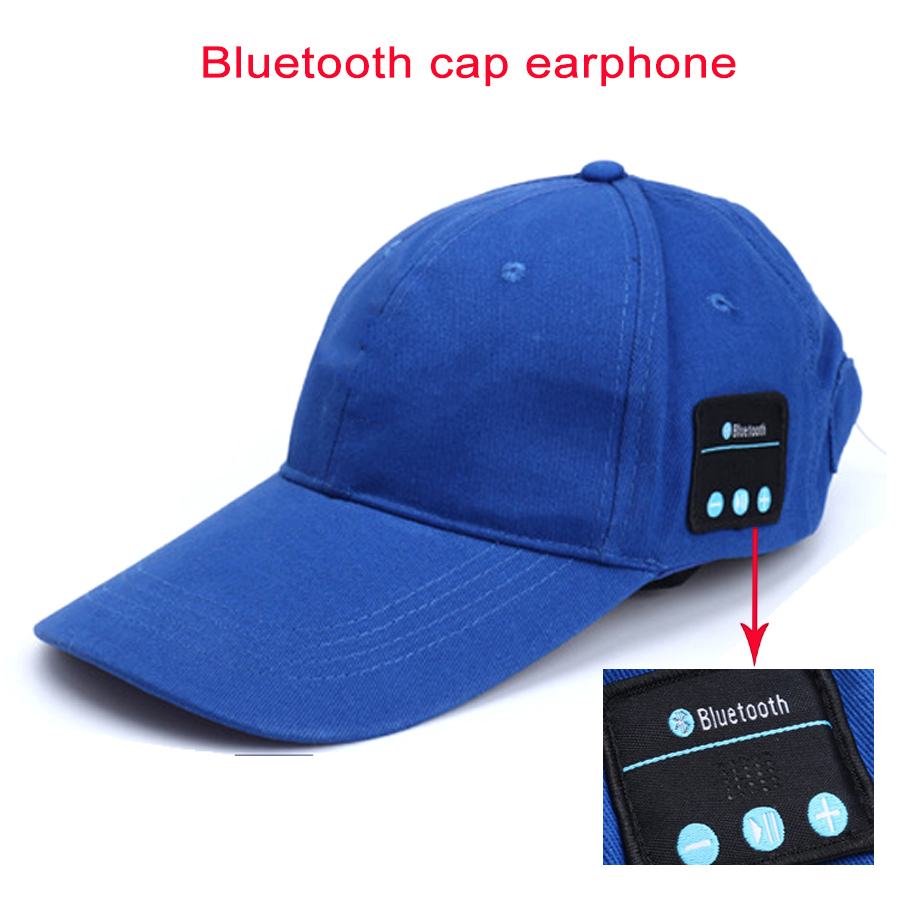 Summer Wireless Bluetooth Cap Sunhat Earphone Sports Fashion Men Women Baseball Caps Snapback Handsfree with Mic Hat Headphone v4 0 edr bluetooth baseball hat
