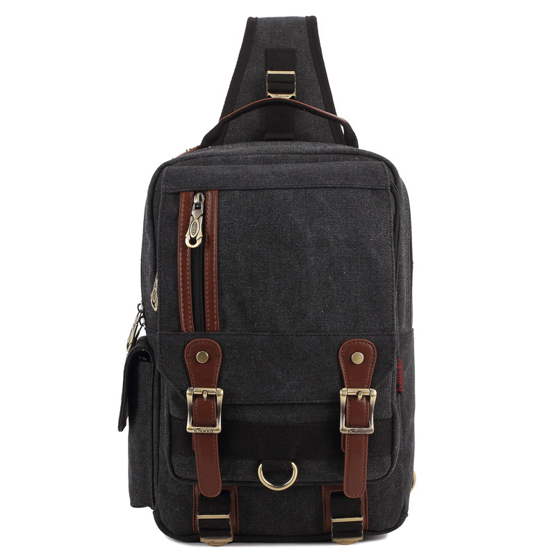 ФОТО New Canvas Business Crossbody Laptop Back Bag Vintage Men Messenger Bag Designer Casual Travel Book Bag Shoulder Chest bag