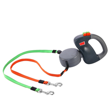 2018 New Automatic Retractable Walking Leash for Two Dogs Rope Outdoor Training Strong Nylon Leashes Pet Tool