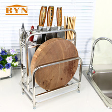 BYN Кухня Применение Нержавеющая сталь Кухонные ножи стеллаж для хранения Ножи стенд Нержавеющая сталь нож стойки стоял Организатор
