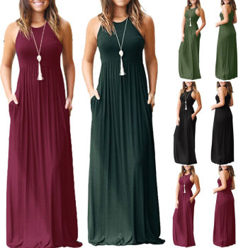 Sleeveless Boho Maxi Dress